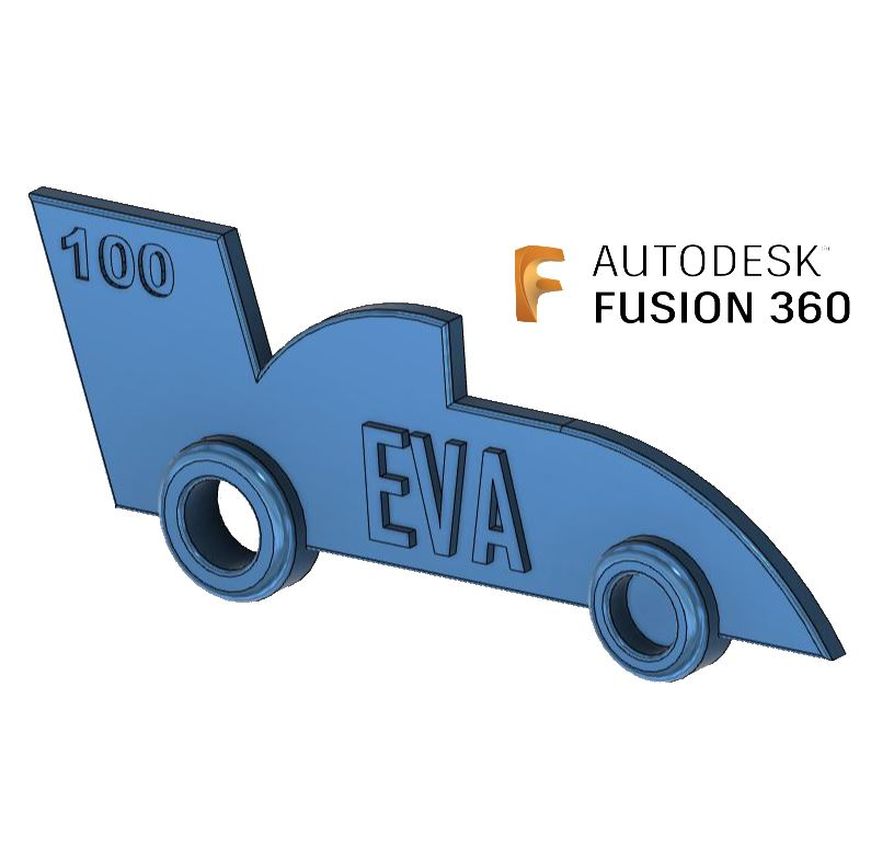 Fusion 360 for the absolute beginner: Race car key fob