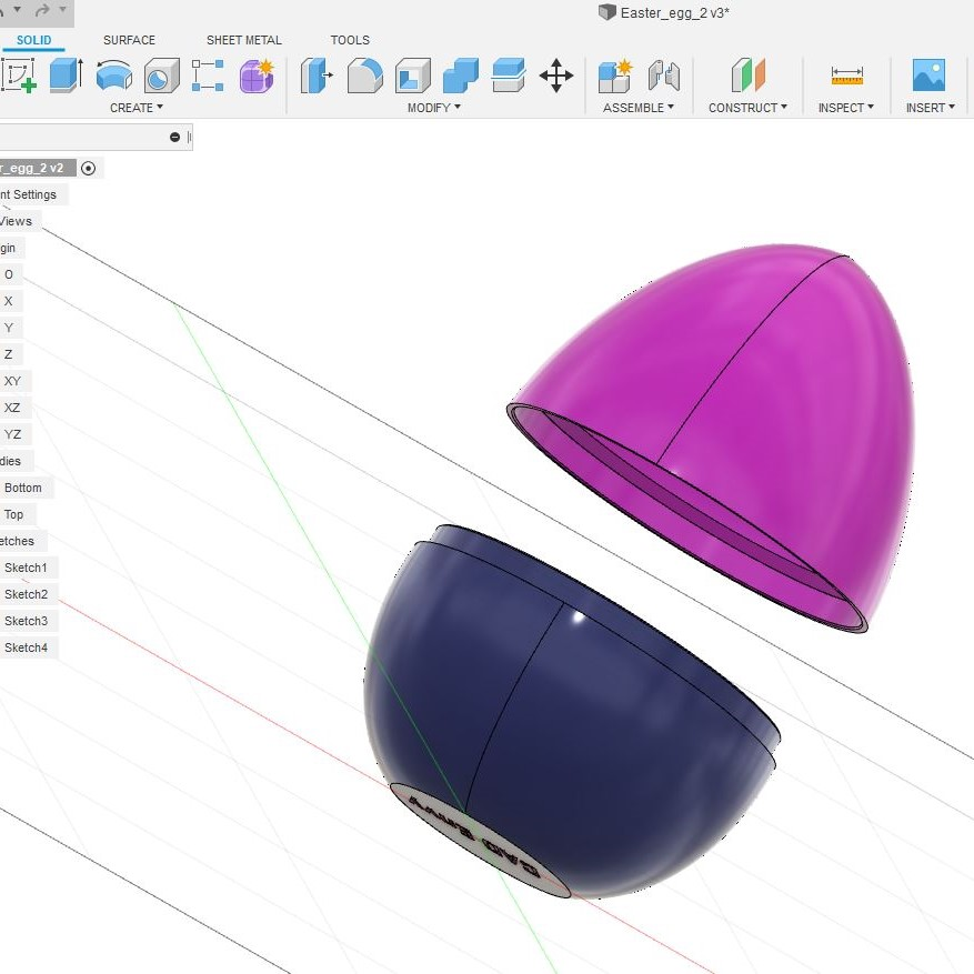 Fusion 360 for the absolute beginner: Easter egg